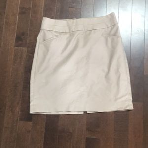 Beige BR pencil skirt